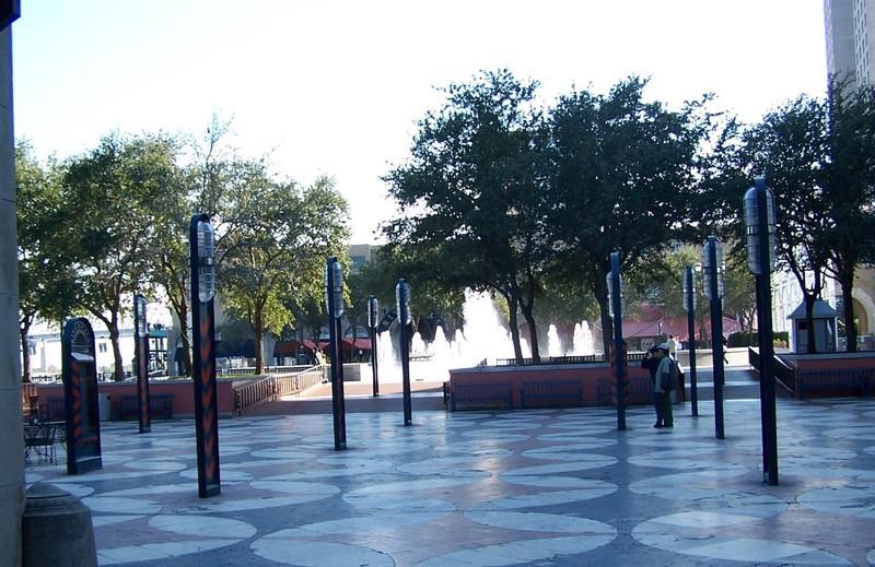 Plaza de Espania in the evening