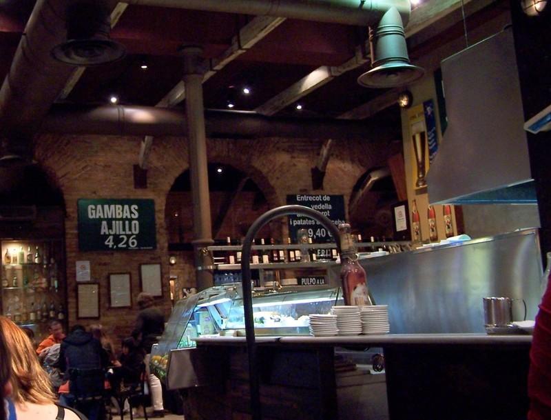 Inside tapas restaurant