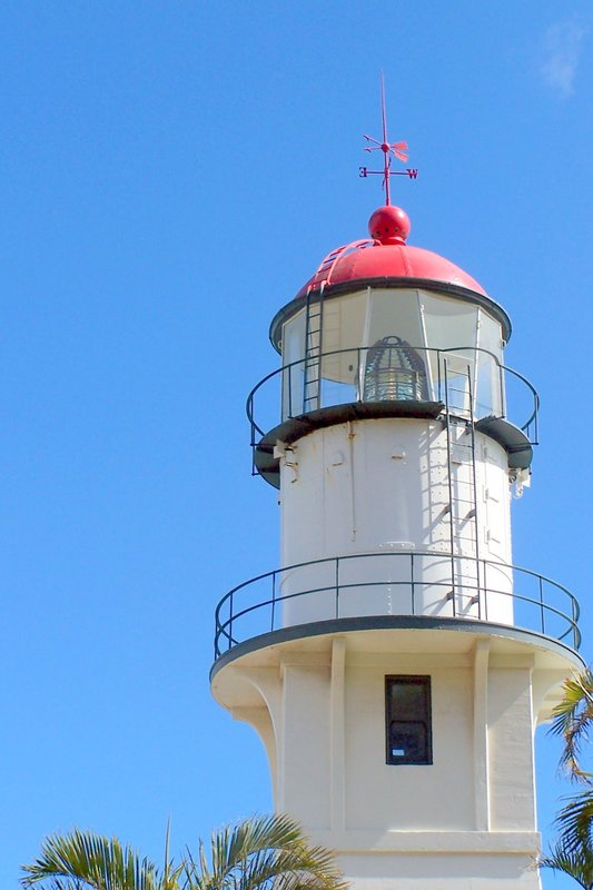 The lantern room of Diamond Head Lighthouse