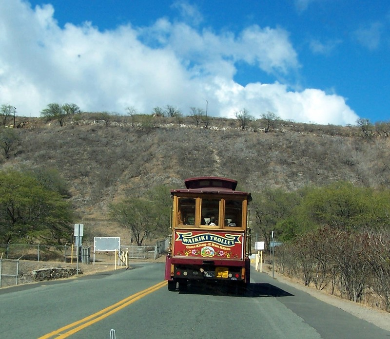 Red Line Trolley at Diamond Head