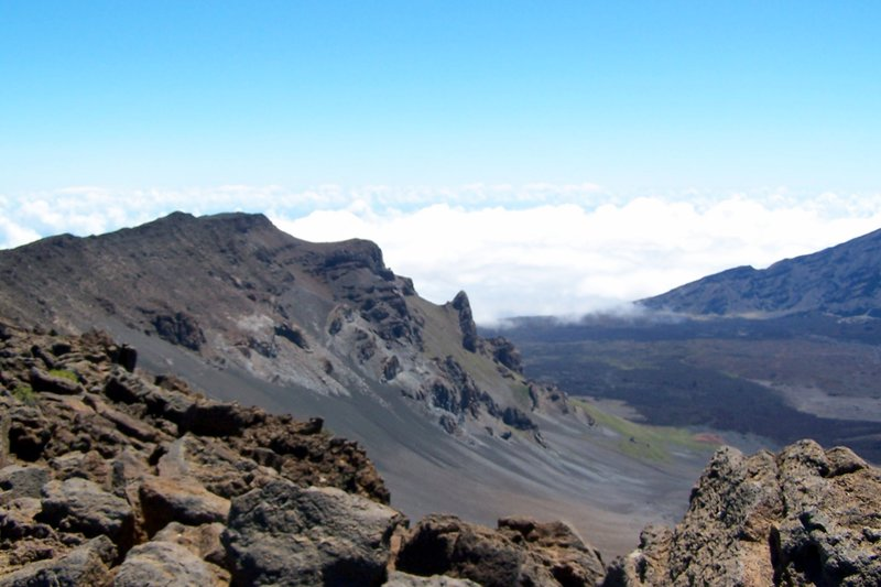Peak in the crater