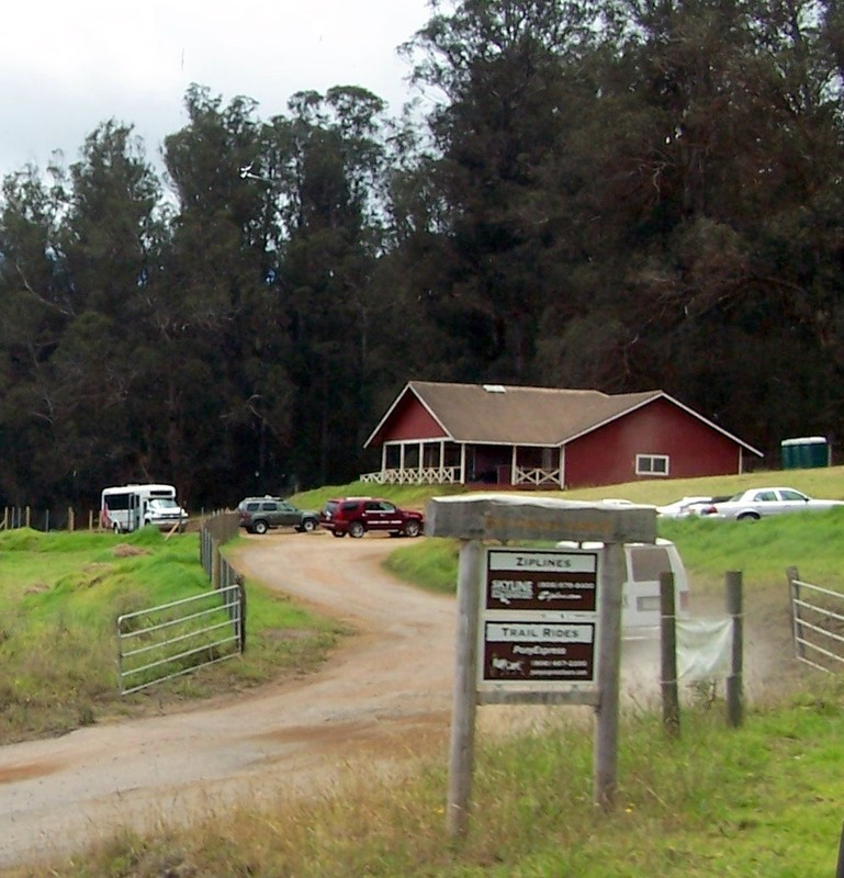 Headquarters of the trail ride ranch