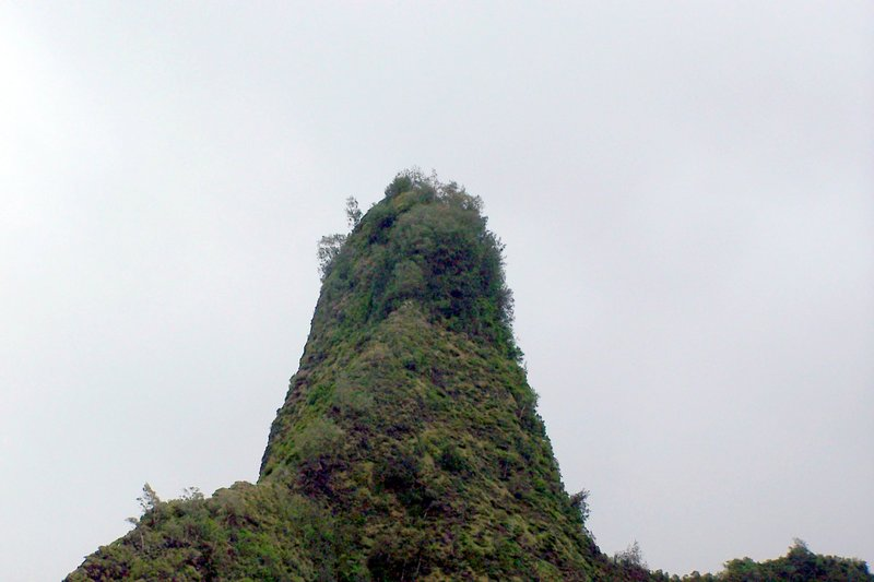 Iao Lava tube with the outside eroded off