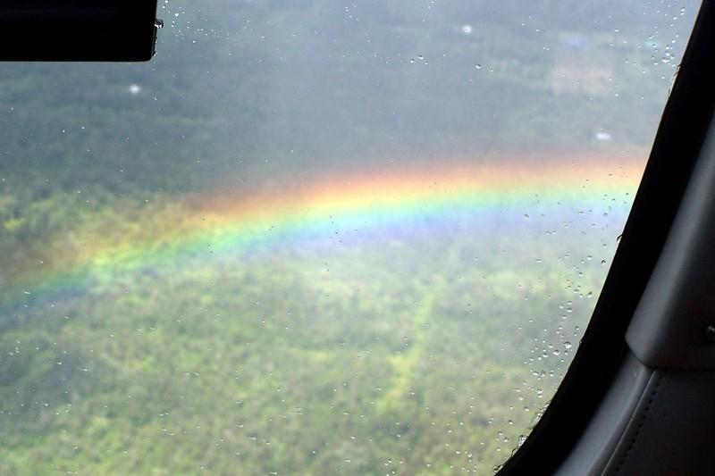 Rainbow in the rain