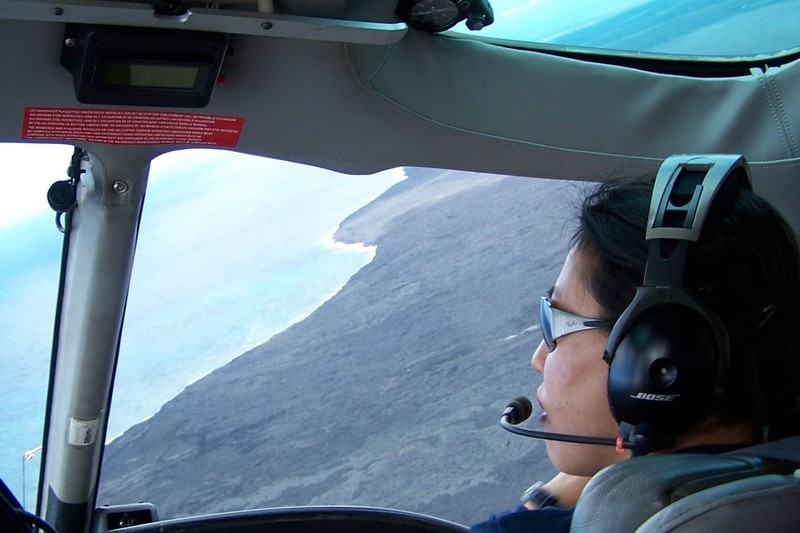 Julie flies to the coast