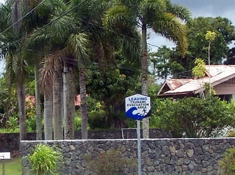 Leaving tsunami evacuation area