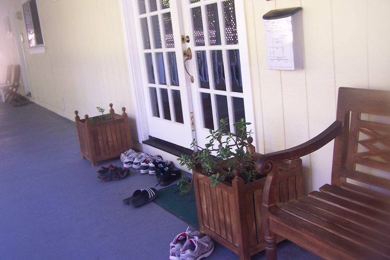 Shoes outside the door