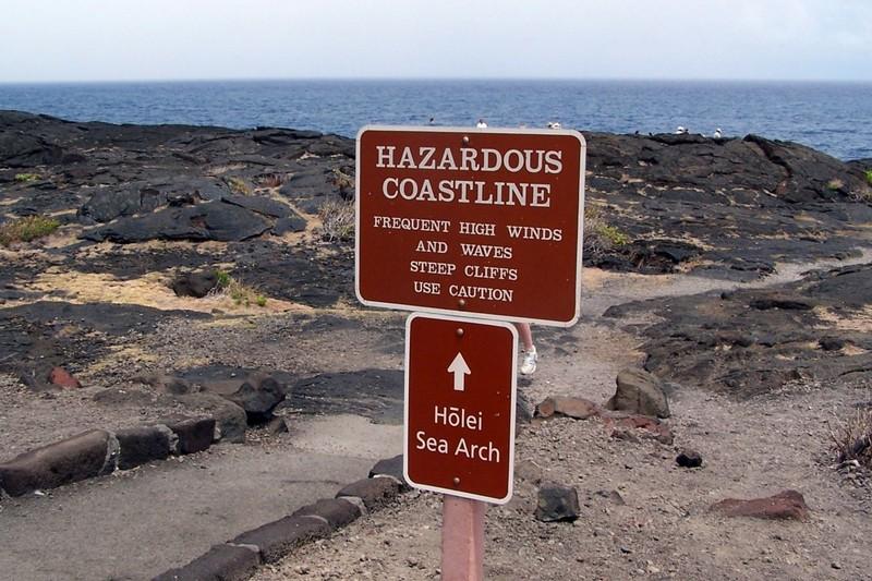 Hazardous coastline