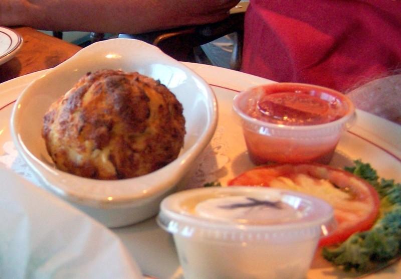 One  crab cake dinner for $15.99