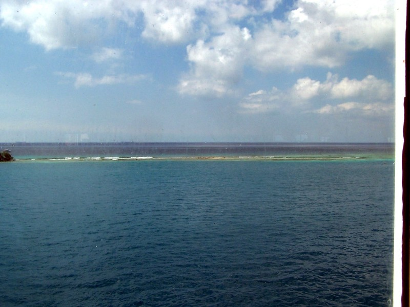 Reef line from the ship