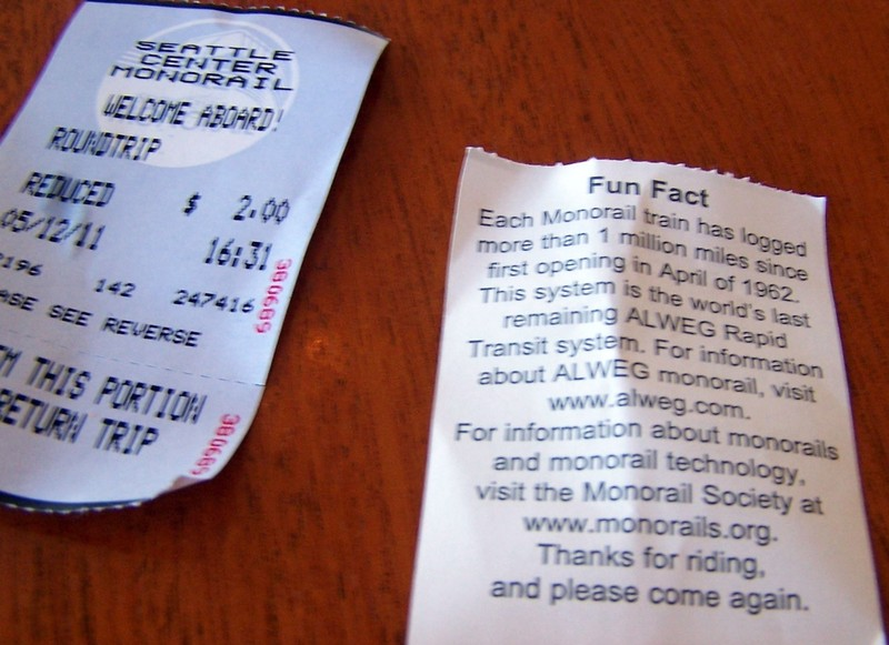 monorail tickets