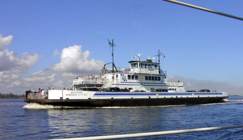 Southport - Fort Fisher Ferry crossing the Cape Fear River