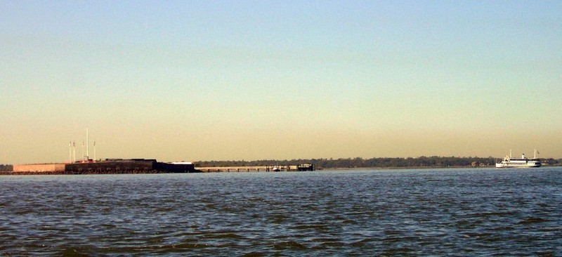 Fort Sumter with the ferry