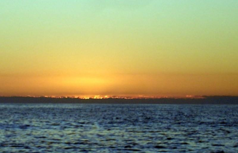 Sun rising 7:15 off the coast of Georgia