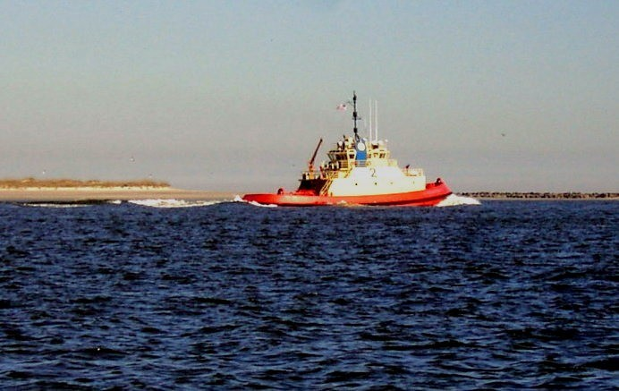 Tug in the inlet by Cumberland Island