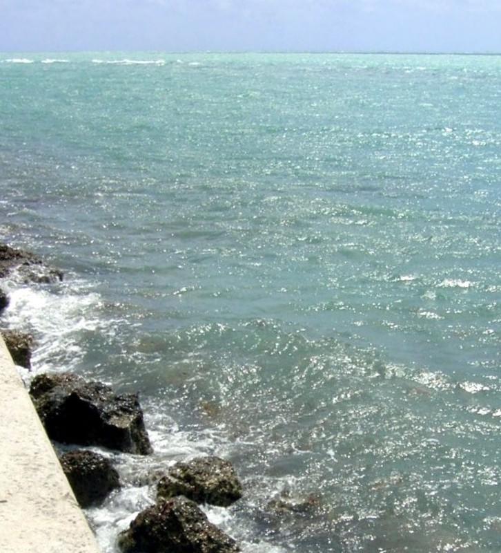 Surf on the fishing pier