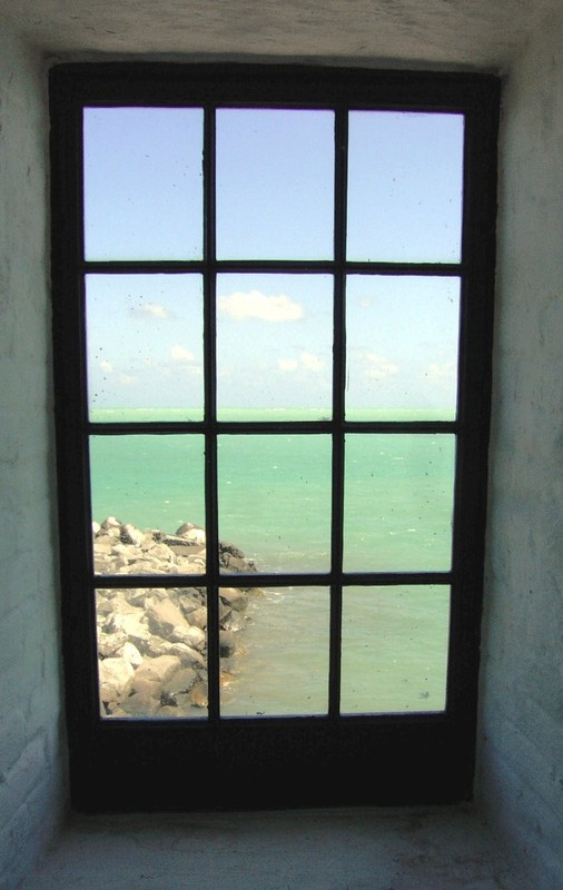 Looking out to sea from the lighthouse window