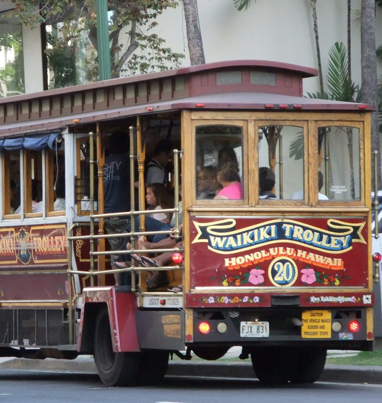 Red Waikiki Trolley
