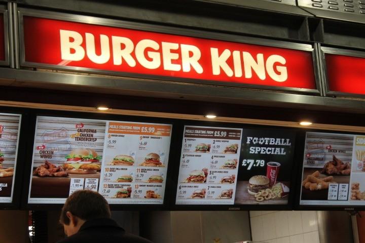 Burger King in Paddington station