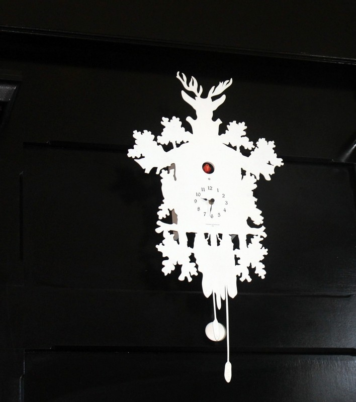 Cuckoo clock behind the checkout desk