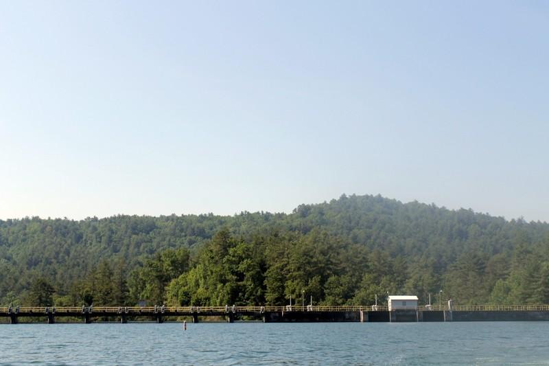 Dam in the lake
