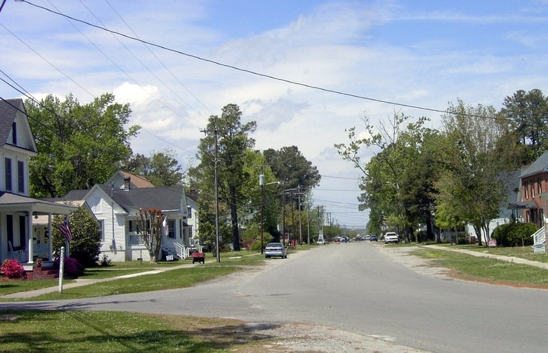 Main Street down at the Pungo River end