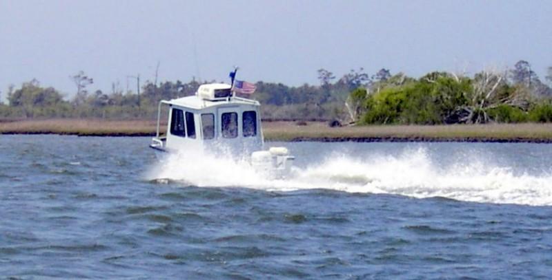 Navy safety boat