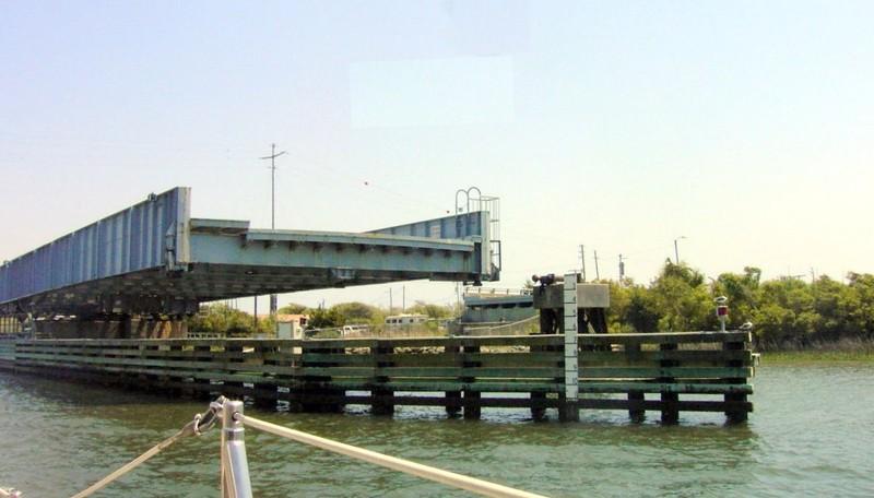 Opened Onslow Beach bridge (Swings toward us)
