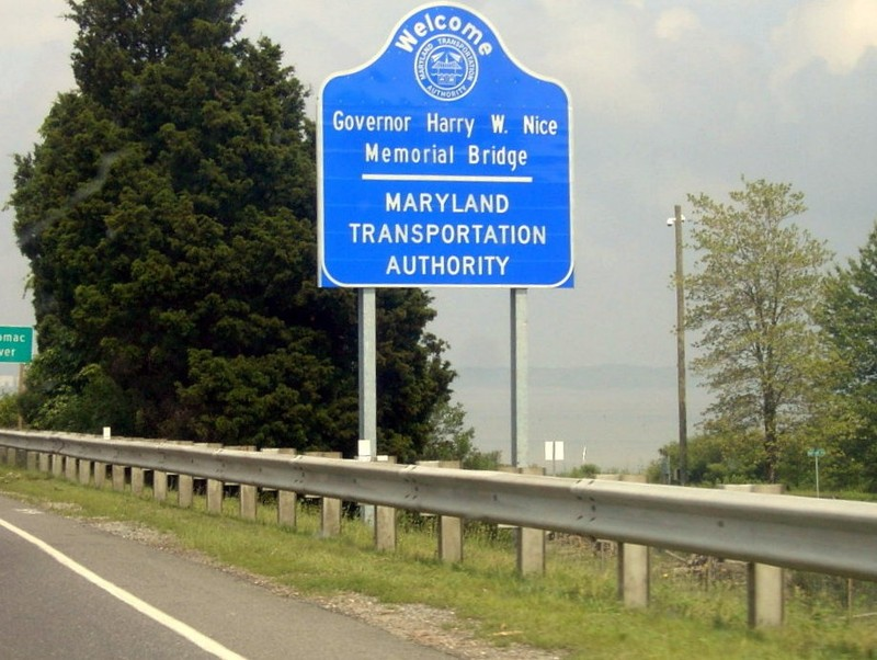 Sign leaving Virginia