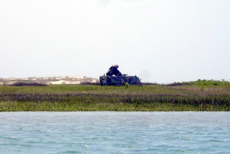 Abandoned military equipment