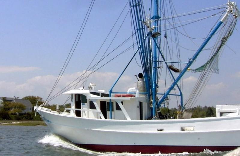 Shrimp boat passing