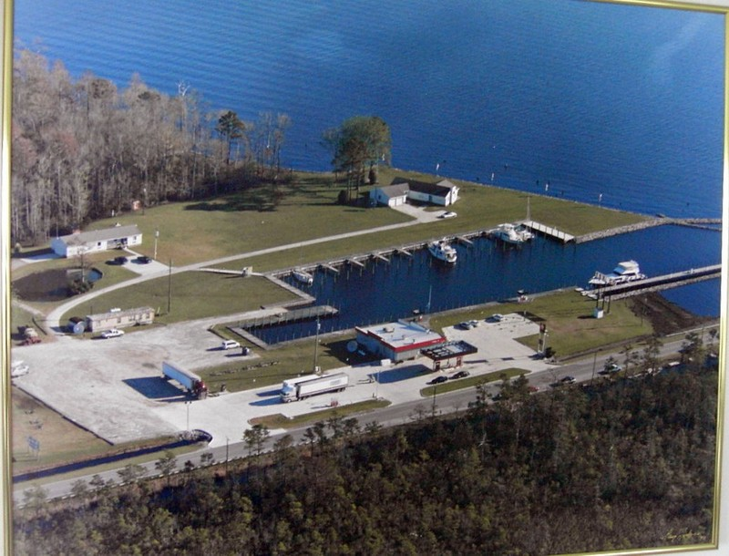 Photo on the wall - Aerial view of Alligator River Marina