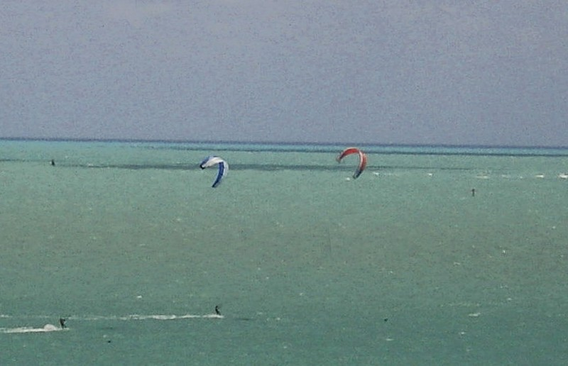 Wind surfers from the lighthouse