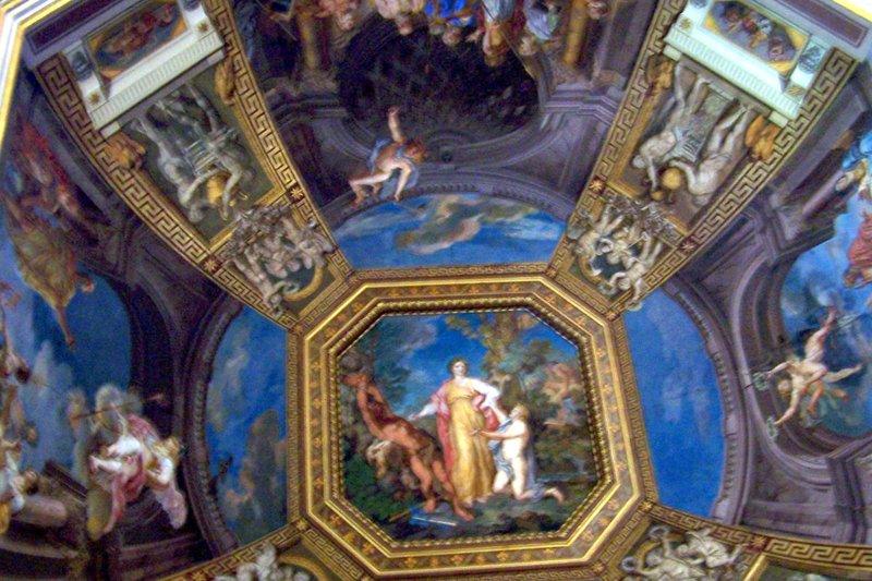 ceiling of museum