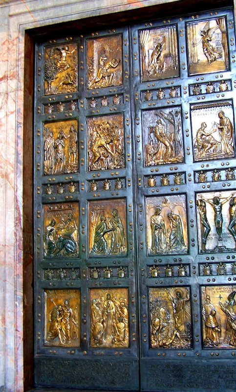 door detail - St Peters