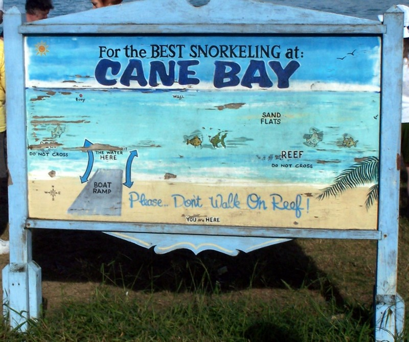 Cane Bay sign