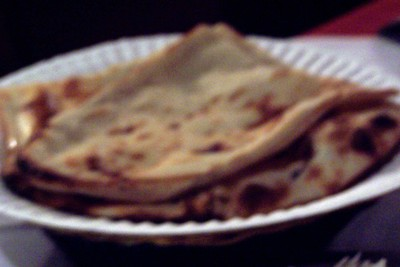 blurred photo of nan bread