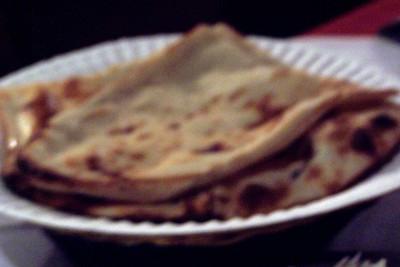 blurred photo of nan bread