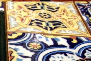 Tiles on the tables in Chili's