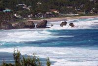 Surf at the Soup Bowl from above Bathsheba - Barbados