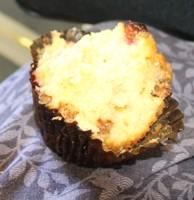 Half eatten muffin - breakfast in the airport