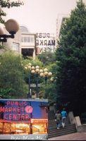 Pike Street market steps (inset post card) 1994 - Seattle