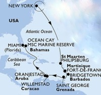 Typical repositioning cruise itinerary