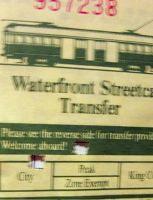 Streetcar transfer - Seattle