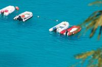 Dinghy line-up from above - St. John