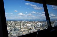 From the Space Needle restaurant - Seattle