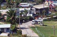 Bus stop with shelter in Bathsheba - Barbados