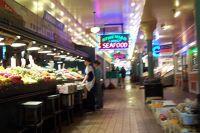 Pike Street Market from a wheelchair - Seattle
