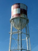 Checkered water tower