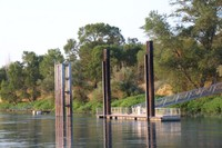 Docking point with a floating dock